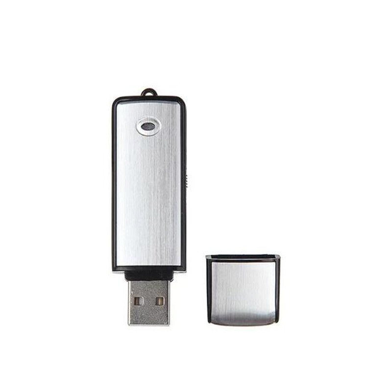 USB Voice Recorder Flash Drive Mini Dictaphone U Disk Audio Sound Recorder Small Digital Voice Activated Recording Device 8GB