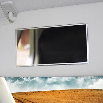 1PC wnętrza samochodu ze stali nierdzewnej przenośny do samochodu lustro do makijażu Auto Visor HD lusterka kosmetyczne uniwersalny samochód lusterko wewnętrzne tanie i dobre opinie CN (pochodzenie)