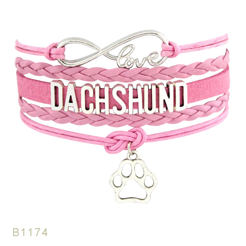 Love Doggie <font><b>Dog</b></font> Trainer Person Lover Police <font><b>Dog</b></font> Mom Maltese Doberman Dachshund Rottweiler German Shepherd <font><b>Bracelets</b></font> for Women image