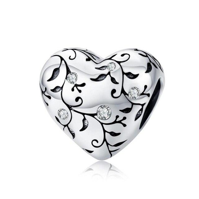 PANDACH-perles, motif européen, cœur, breloque en argent 925, Original, Style Pastoral, rétro, bricolage, nouveauté bijoux à breloques, C1323, 2019