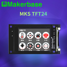 Makerbase mks controlador inteligente tft24, controlador de tela sensível ao toque, peças da impressora 3d, 2.4 polegadas, suporte de cor completa, wi fi, controle sem fio