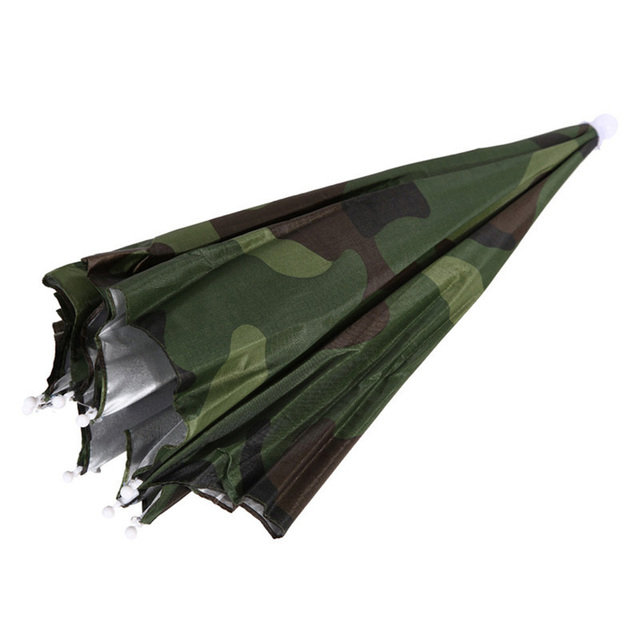 Fishing Caps Sport Umbrella Hat Outdoor Hiking Camping Headwear Cap Head Hats Camouflage Foldable Sunscreen Shade Umbrella 3
