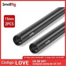 Smallrig 15mm liga de alumínio hastes 30cm / 12 polegadas por muito tempo para câmera dslr 15mm hastes sistema haste do trilho da câmera preto (pacote de 2)-- 1053