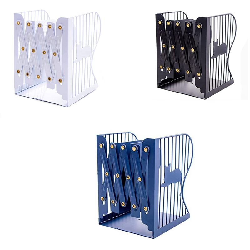 Adjustable Bookends Expandable Bookcase Bookend Metal Book Ends Holder Shelf Bookend for Heavy Book