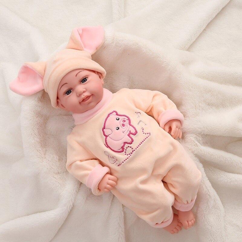 Simulation bébé toucher son une poupée jouets pour enfants matériel sécurité confortable se sentir doux