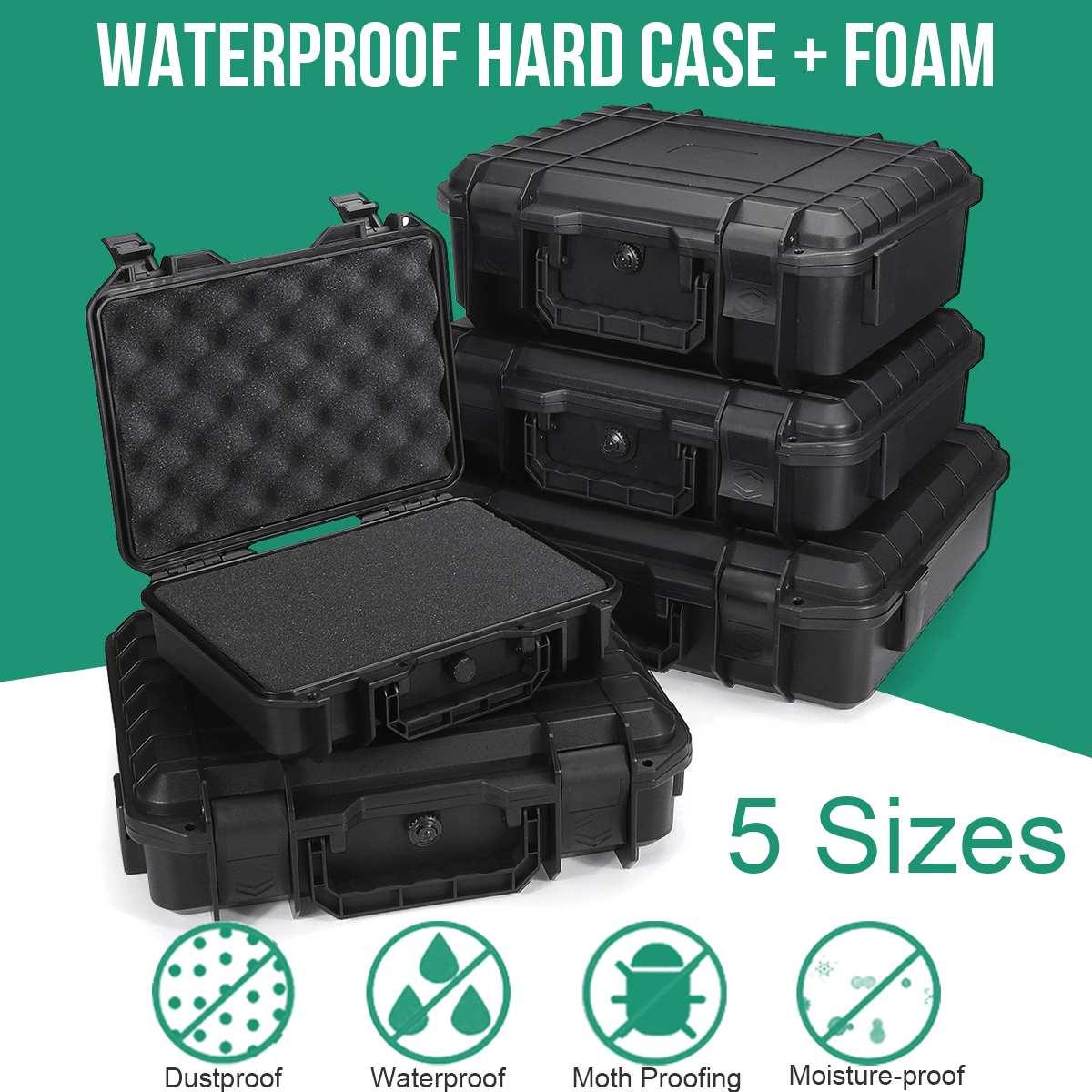 Schutz Sicherheit Instrument Werkzeug Box Wasserdicht Stoßfest Lagerung Toolbox Versiegelt Werkzeug Fall Auswirkungen Beständig Koffer Schwamm