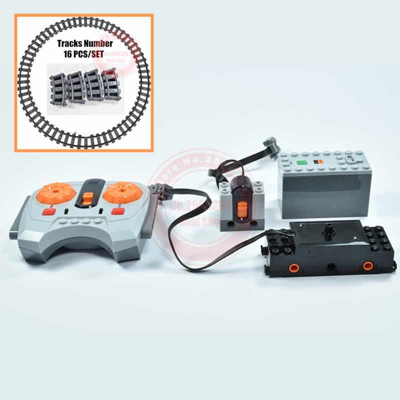 MOC RC Remoto Funções de Controle De Potência Do Motor Fit Legoings Técnica para 10219 10254 10183 75955 Trem Bloco de Construção de Tijolos Miúdo presente