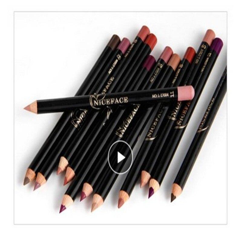 Lipstick Pen Pigments Lip Pencils Pen Use Lip Liner Makeup Smooth Matte Lipliner TSLM1 Nude Colorful Matte Beauty No Blooming