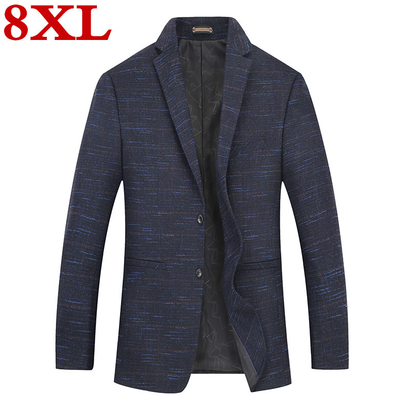 New Plus Size  8XL 7XL 6XL Mens  Fashion Cotton Blazer Suit Jacket Male Blazers Mens  Business Casual Coat