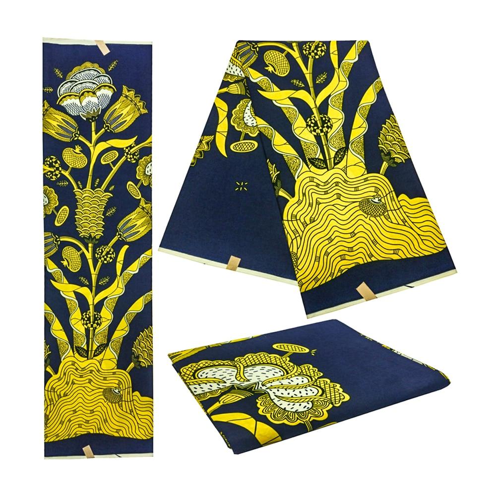 Wholesale 2019 High Quality African Prints Fabric Veritable Dutch Wax Nigerian Style 6 Yards/pcs 100% Cotton