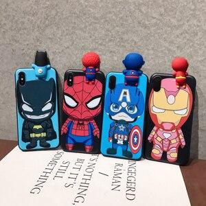 3D силиконовый чехол с героями мультфильмов, Капитан Америка, паук, железный, Бэтмен, для XiaoMi A3, A2, 9T, 10 Lite, Redmi K30, 6A, 7A, Note 4X, 7, 8T, 9S Pro