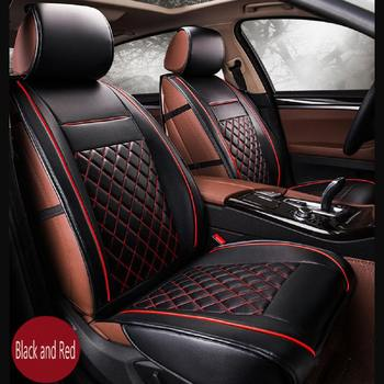 2Pcs/Set Universal Car Front Seat Cover Automobiles Seat Covers PU Leather Pad Cushion Protection Auto Car Accessories Seat Mat
