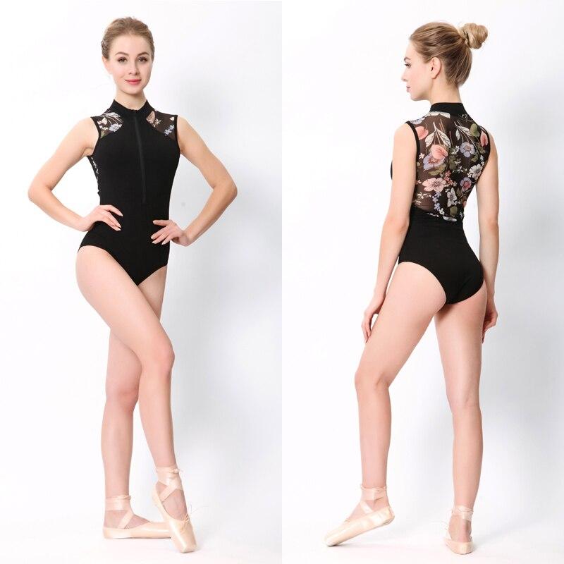 Image 4 - Ballet maillots de baile mujeres 2020 nuevo estampado de moda cremallera gimnasia baile traje adulto barato encaje Ballet leotardoBallet   -