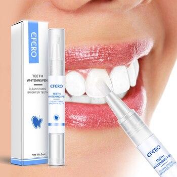 EFERO White Teeth Whitening Pen Tooth Gel Sbiancante Bleach Rimuovere Le Macchie Dental Strumenti di Igiene Orale Pulizia Dei Denti Placca Siero 1