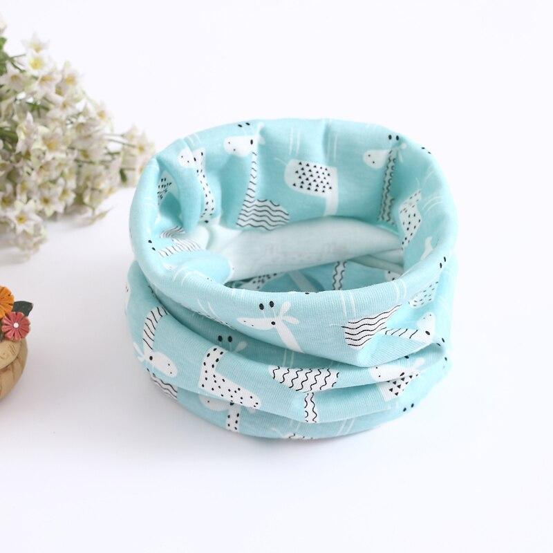 Детский хлопковый шейный шарф с милым принтом; детский теплый шарф; Детские воротники; осенне-зимний шарф-кольцо для мальчиков и девочек; аксессуары для детской одежды - Цвет: No.41
