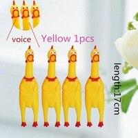 2019 amarelo engraçado gritando de borracha frango pet cachorro gato brinquedo squeak guinchador mastigar brinquedo do miúdo presente