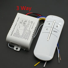 3 Way ON/OFF AC 220V Wireless Remote Control Switch Digital Remote Control Receiver Transmitter For Lamp & Light Three- Way