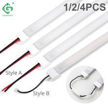 Lumière LED sous-meuble SMD2835 220V, 30CM 50CM, bande lumineuse rigide pour placard de cuisine 4W 7W, garde-robe, chambre à coucher, veilleuse barre filaire