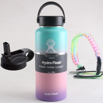 Hydro Flask Water Bottle Stainless Steel Vacuum Insulated Wide Mouth Hydroflask with Flex Cap And Straw Lid 18/32/40oz
