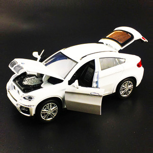 Image 2 - حار سبيكة دييكاست نموذج سيارة 1:32 BMW SUV X6 وامض الصوت الطفل سيارة معدنية اللعب التراجع عجلات الاطفال هدايا عيد الميلاد
