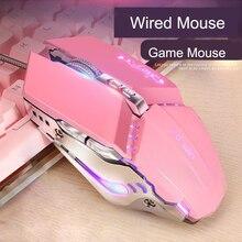 מקצועי משחקי Gamer עכבר 3200DPI מתכוונן Wired אופטי 4 צבעים LED מחשב עכברים USB כבל עכבר 7 כפתורים עבור מחשב נייד