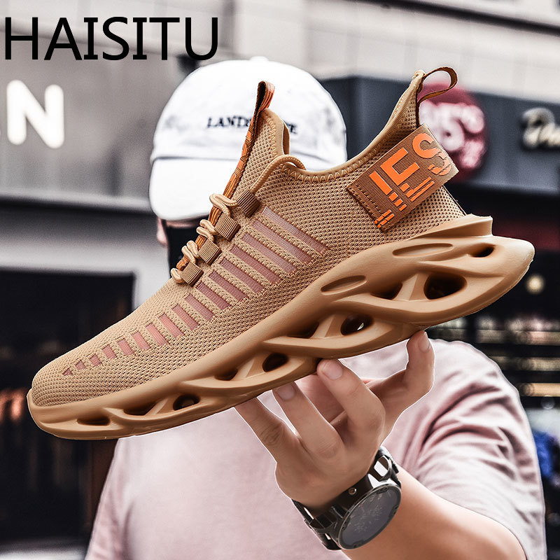 Men's Running Shoes Breathable Shockproof Light Weight Lace Up Men Blade Sneakers Height Increase Gym Walking Shoes Male Leisure