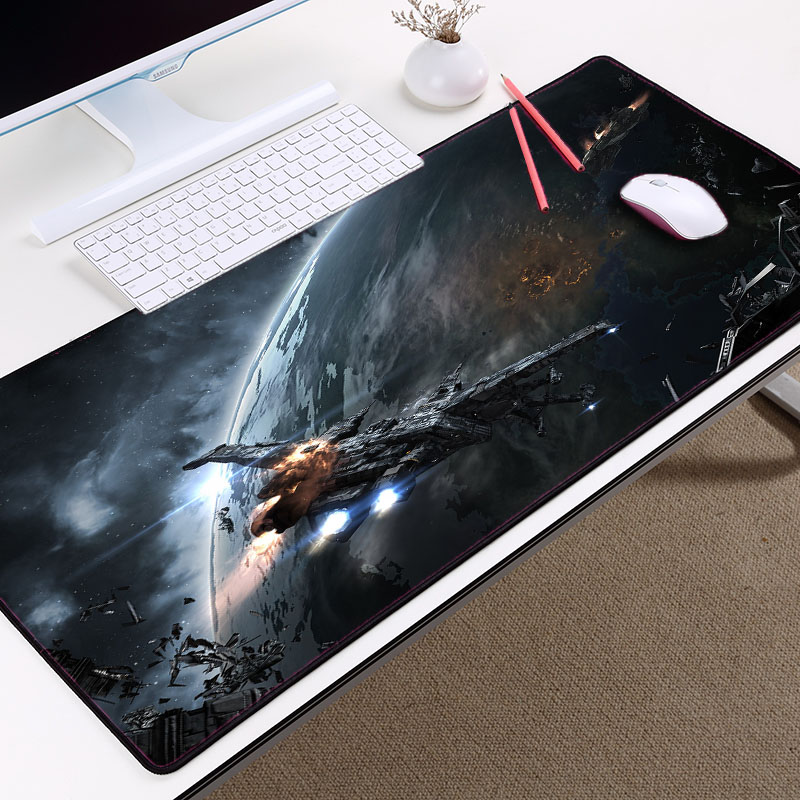 The Big Size Mousepad Large Table Mat Eve Online Space Sci-fi Game Gaming Mouse Pads For Eve Gamer Locked Edge Mat