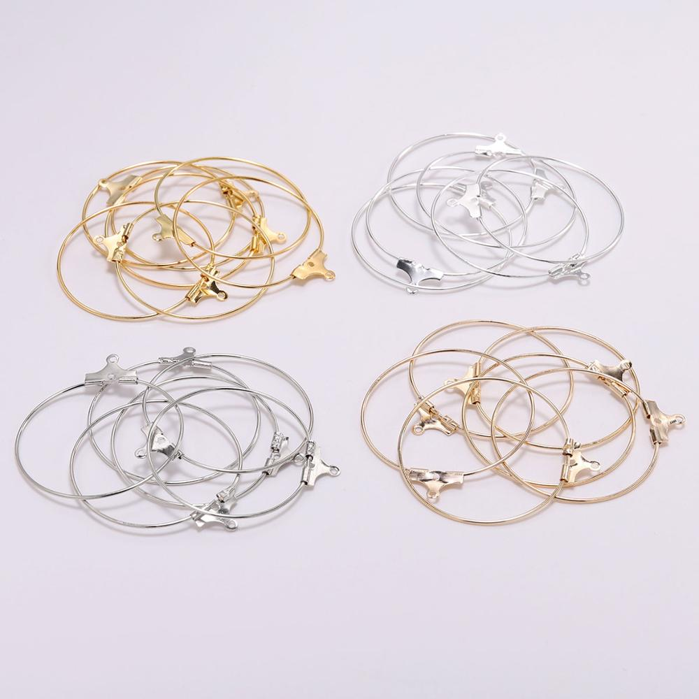 Gold Silver Rhodium Earwire Hanging