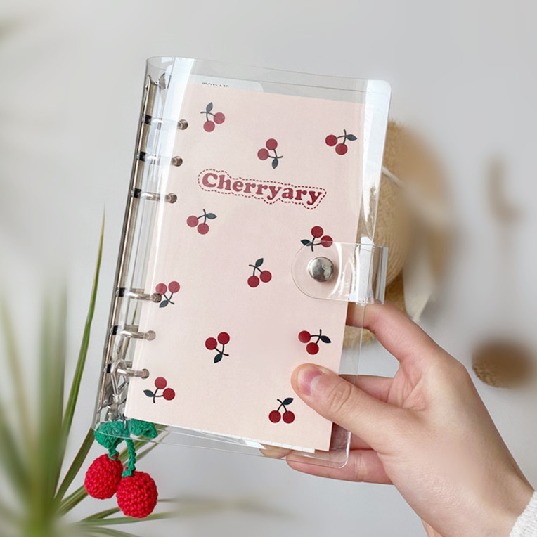 2020 Sharkbang Kawaii Cherryary A6 Loose-leaf Diary Notebook Journal Planner For Girls Weekly Monthly Agenda School Stationery