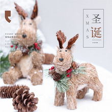 Christmas Ornaments Plants Pussy Deer Creative Birthday Gifts Decorations