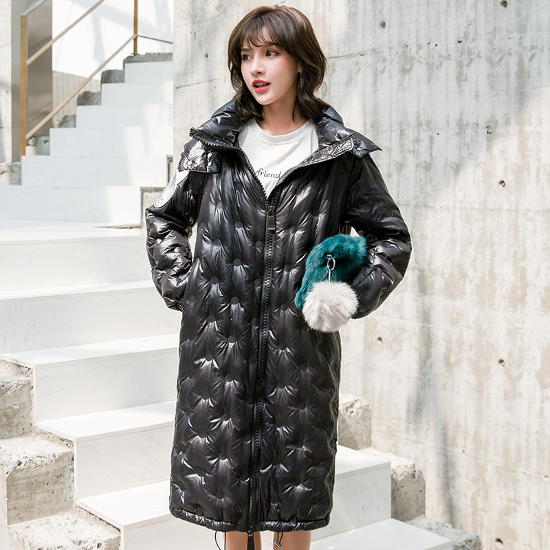 Winter Down Jacket Women Long Down Coat Female Thick Warm Clothes 2019 Korean Elegant Vintage Down Parkas Hiver LW2259