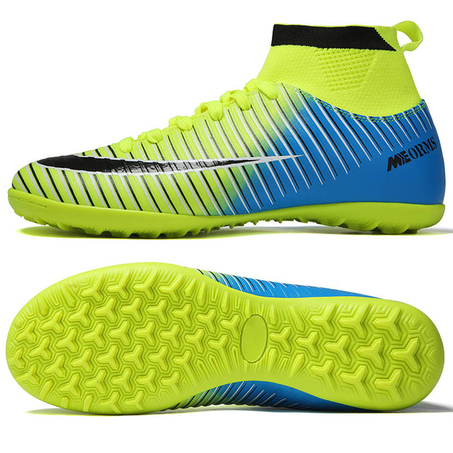 Indoor Soccer Shoes Men Sneakers Soccer Boots Turf Football Boots Kids Soccer Cleats AG/FG Spikes Training Sport Futsal Shoes 4