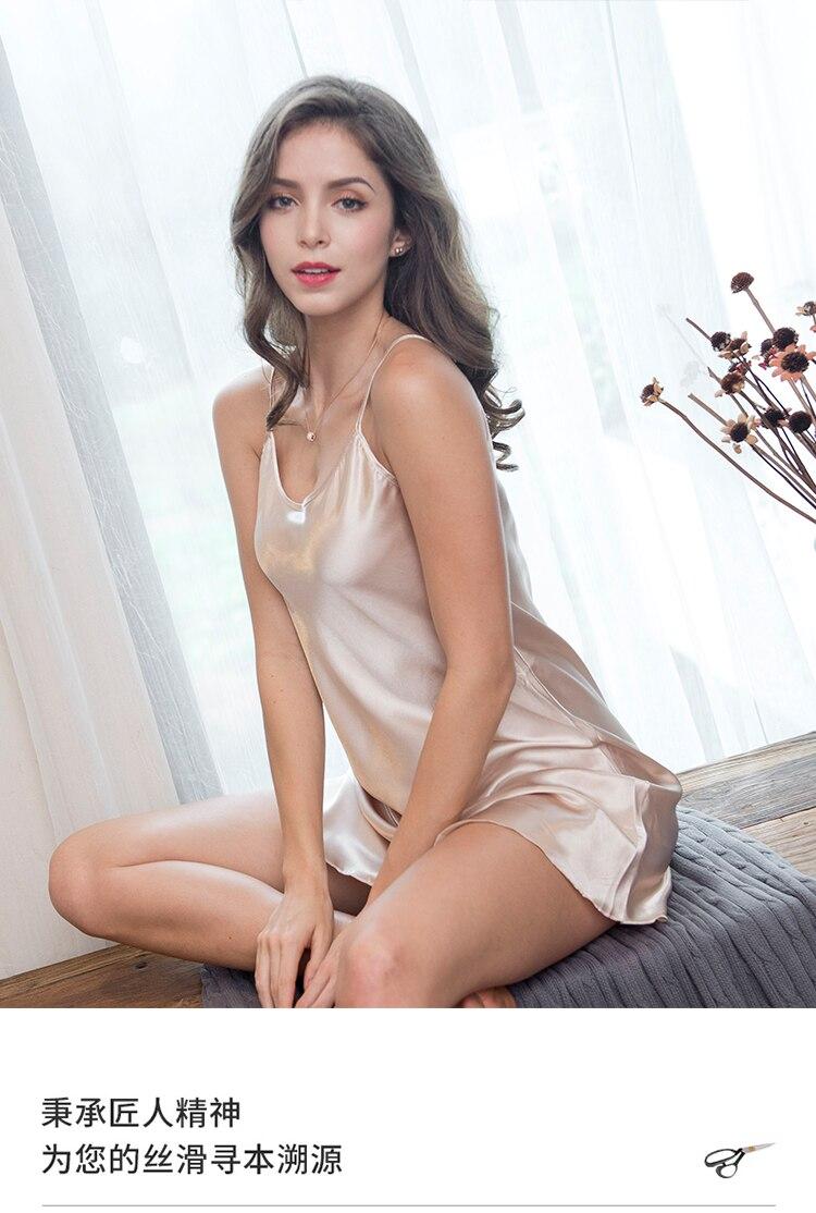Verão dormir camisola sexy lingerie feminina sem