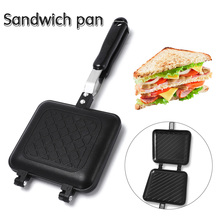 Non-Stick Sandwich Maker Iron Bread Toast Breakfast Machine Waffle Pancake Baking Barbecue Oven Mold Grill Frying Pan