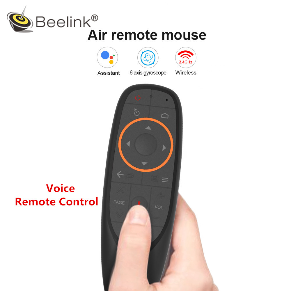 Beelink Voice Remote Control 2.4G Wireless Air Mouse Microphone Gyroscope With Gyro Sensing Game For Android Tv Box