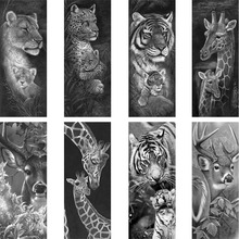 Diamond Embroidery Wild Animals 5D DIY Painting Black White Tigers And Giraffes Cross Stitch Full Rhinestone Mosaic