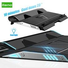LLANO dizüstü soğutucusu 2 USB bağlantı noktaları iki soğutma fanı taban Notebook soğutucu standı destek 15.6/17.3 inç dizüstü soğutma pedi aksesuarları