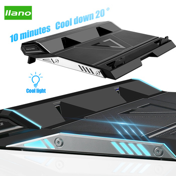 LLANO Laptop Cooler 2 USB Ports Two Cooling Fan Base Notebook Cooler Stand support 15.6/17.3 Inch Laptop Cooling Pad Accessories mini folding usb 2 0 2 fan base cooler pad for 10 14 notebook blue