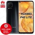 Глобальная версия Huawei P40 lite мобильного телефона 6,4 дюймов Kirin 810 Octa Core 6 ГБ 128 64MP Quad камера AI EMUI 10 с функцией отпечатка пальца ID