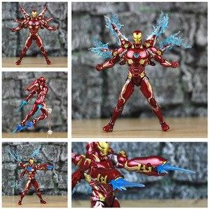 "Image 4 - Iron Man 6"" Action Figure Ironman Nano MK50 MK85 MK47 Mark 50 85 46 47 Tony Stark Legends KOs SHF Avenger Endgame Toys Doll"
