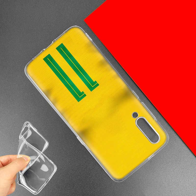 De Fútbol número 10 para Xiaomi rojo mi nota 8 7 K20 CC9 S 7S S2 6 6A 7A Pro mi CC9 E 9T A3 A1 A2 Lite F1 TPU cubierta del teléfono