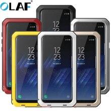 Pełna ciężka ochrona pancerz metalowy futerał na telefon do Samsung Galaxy S10 S9 S8 Plus S4 S5 S6 S7 krawędzi uwaga 9 8 5 odporna na wstrząsy okładka