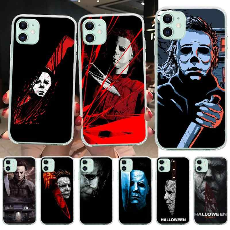 NBDRUICAI Halloween The Curse Of Michael Myers Horror Movie Phone Case for iPhone 11 pro XS MAX 8 7 6 6S Plus X 5S SE XR cover