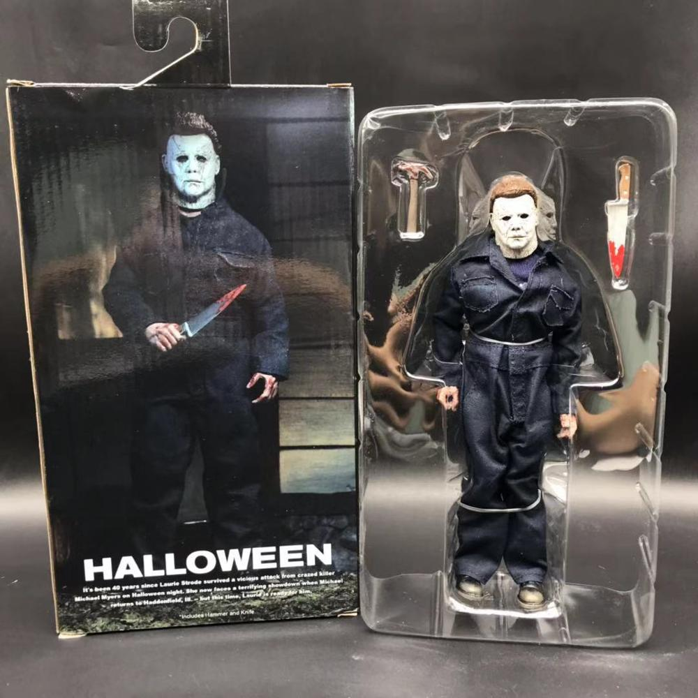18CM Original NECA New Halloween Ultimate Real clothes Michael Myers Action Figure PVC Joint movable collection toy giftAction & Toy Figures   -