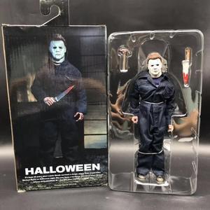 Image 1 - 18CM oryginalny NECA nowy Halloween Ultimate prawdziwe ubrania michael myers figurka PVC wspólne ruchome kolekcja zabawka prezent