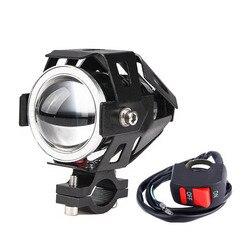1 para 125W U7 sklep motocykl reflektory anielskie oczy DRL reflektory pomocniczy jasne led rowerów akcesoria do lamp pracy światła przeciwmgielne