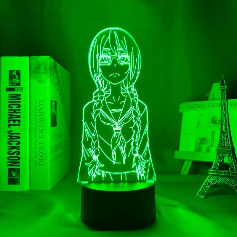 H095e35e49c1448ffa7755c0177251078X Luminária Saki yoshida conduziu a luz da noite para o quarto decoração presente nightlight anime lâmpada de mesa 3d saki yoshida