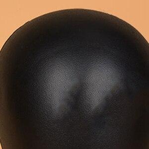Image 5 - PU ブロック頭発泡マネキンヘッドかつらの帽子毛メガネディスプレイモデルかつらショーケースアイテムダミーヘッド用のブラックスタンド