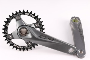 Image 5 - Shimano Alivio M4050 9 מהירות אופני אופניים mtb crankset עם Deckas 96BCD צר רחב chainring 32T 34T 36T 38T עם BB52