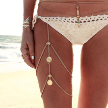 цены Leg chains boho anklet body jewelry gold silver color anklets for women leg chains new body jewelry